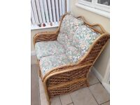 4 piece wicker conservatory suite