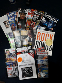 Guitar magazines and CDs FREE to pick up