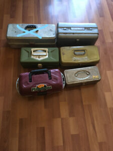 Empty Vintage Fishing Boxes