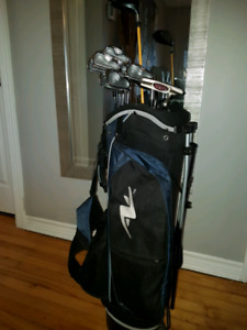 Srixon irons set with taylor made driver and putter, wedges