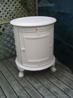 Cream coloured Large Coffee Table and Bar Unit