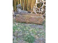Stone look garden trough or planter