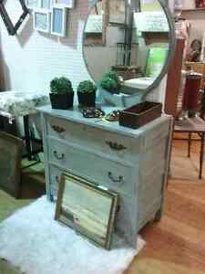 Dressers, mirrors, artwork, antiques and more