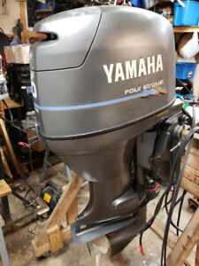 2000 Yamaha F50 outboard with controls