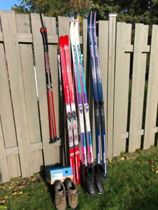 Skis  & Boots - X Country & Down Hill Boots