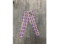 Missguided patterned girls trousers size 6