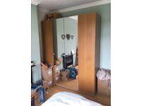 Ikea double mirrored PAX wardrobes