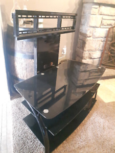 3 Tier Glass/Black Metal TV Stand - $125.00 OBO