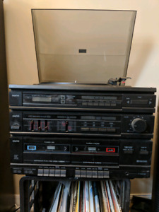 Vintage Sanyo Record and Cassette player