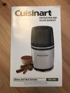 Grinder (Cuisinart SG-10C) - almost new!