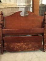 Antique Solid Wood Single Bed