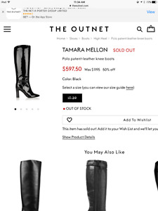 Tamara Mellon.....Black Patent Leather Boots