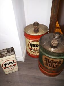 Vintage Oil Cans-Price Reduced!!