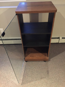 Cabinet Stand with Glass Door and Shelves