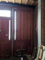 Large solid wood doors 5' x 11' Free for pick up