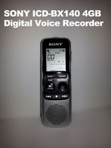 SONY ICD-BX140 4GB Mono Digital Voice Recorder - $30 each