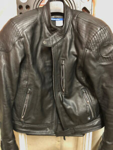 2018 BMW Motorrad Black Leather Jacket Size - Size 58 (2XL)