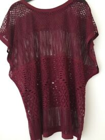 Ladies burgundy Top size M from Primark