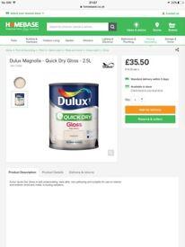 Dulux magnolia gloss paint