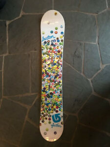 BRAND NEW BURTON Feather 49 White/Cyan Blue Snowboard for Sale