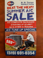 $20 OFF AIR-CONITIONING TUNE UP SPECIAL $69.99 (519) 691- 0354