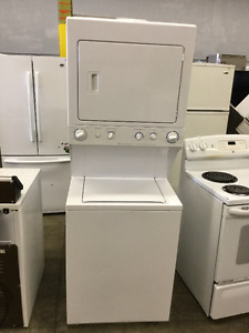 "Frigidaire Stackable 27"" Washer and Dryer Heavy Duty White"
