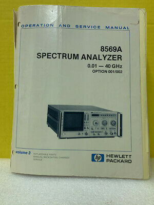 Hp 08569-90001 8569a Spectrum Analyzer Operation And Service Manual