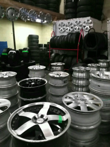A set of 4 pirelli snow tires. 195/55/16