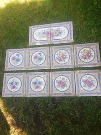Used 10 reproduction fireplace tiles