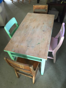 Kid's Craft Table with 4 chairs!