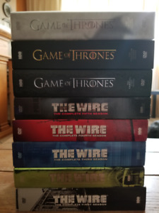 Game of Thrones 1-3/ The Wire complete set-$15 each