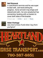 HORSE HAULING-●BC-AB-SK-MB-ONT-●EQUINE TRANSPORT●780-387-8851