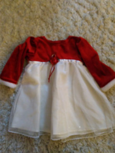Red and White sparkly toddler dress