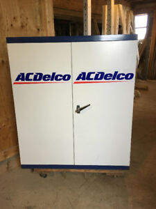 Very Nice Original AC Delco Steel Parts / Storage Cabinet $170