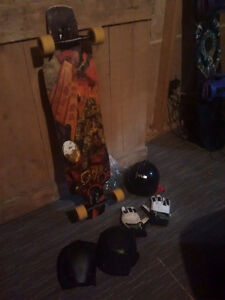 Rayne Supreme Longboard with safety gear