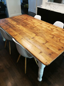 Solid wood country table