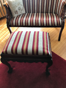 Beautiful Antique Style Settee Bench & Foot Stool - $350 OBO