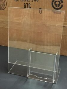 Brand New Acrylic Display with Brochure Holder