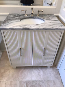 Solid Maple Vanity with Granite Countertop