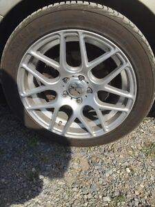 5x112 RTX rims and almost new tires Kingston Kingston Area image 3