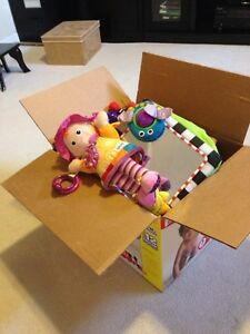 Big box of young baby toys