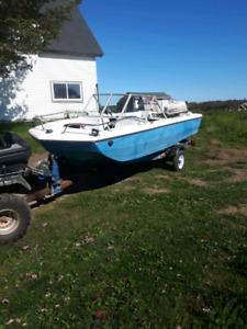 1970s boat, tralor, and 50 hp Johnson for sale or trade