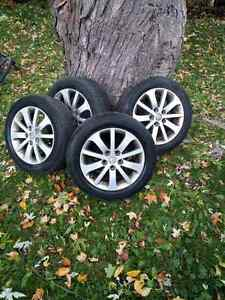 "Mazda 17"" rims with winter tires from Mazda 5"