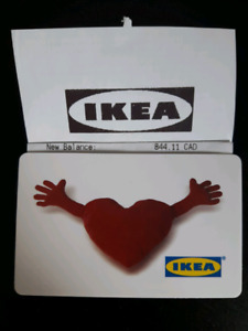 844 Ikea gift card for 800