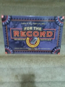 For the Record ,Rock N' Roll Trivia game Sealed