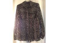French connection leopard blouse 10