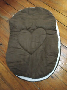 Jolly Jumper Cuddle Bag Car Seat Cover Brown Plus Head Support