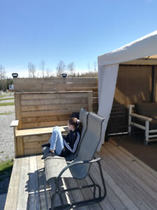 Roulotte au camping Atlantide
