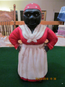 "large Vintage Cast Iron ""Mammi""/ ""Aunt Jemima"" Bank"