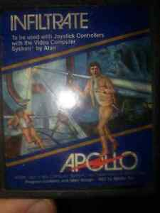 Rare Atari 2600 Infiltrate by Apollo Games